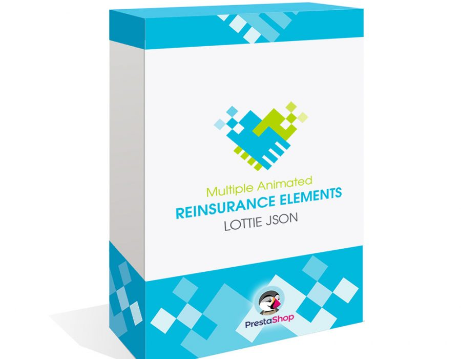 Múltiples Elementos Confianza Animados Lottie JSON | Fidelización Prestashop