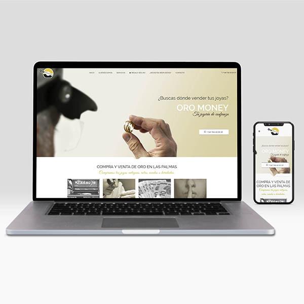 Web corporativa – Compra y venta de oro