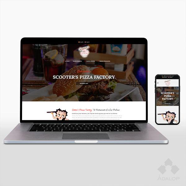 Web corporativa – Scooters Pizza Factory