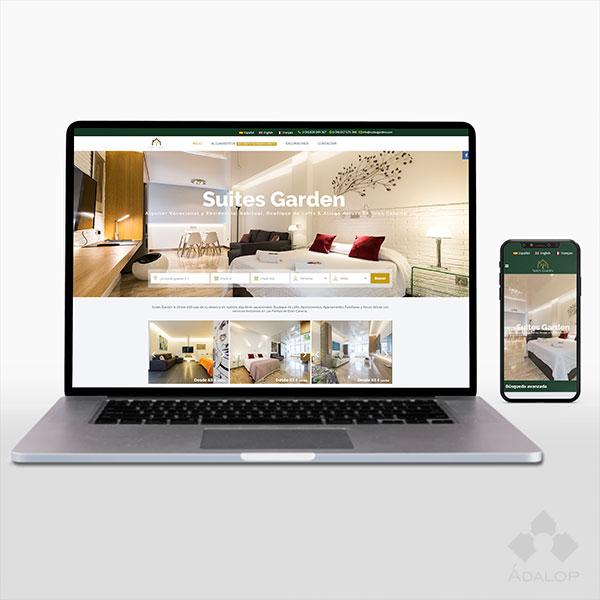 Web corporativa – Alojamiento vacacional